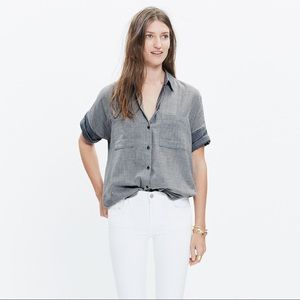 Madewell Courier Shirt in Lilydale Stripe - XS
